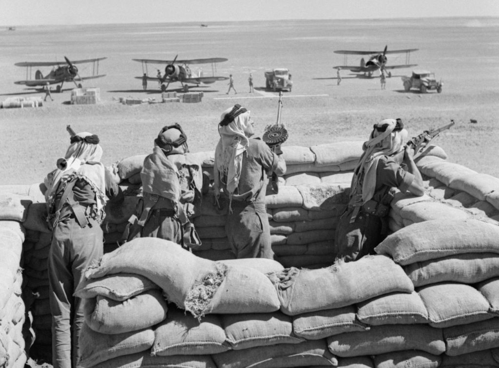 Arab soldiers guarding airfield